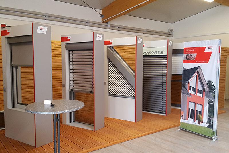 Ausstellungsfläche Weinmann Sonnenschutz in Wöllstein